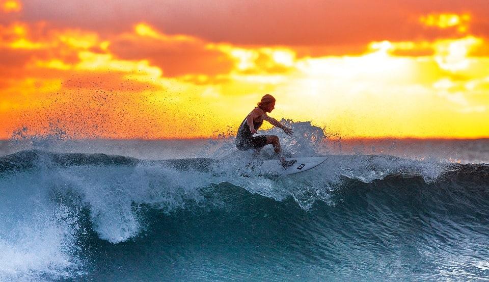 Surf sur les ïles d'Hawaï
