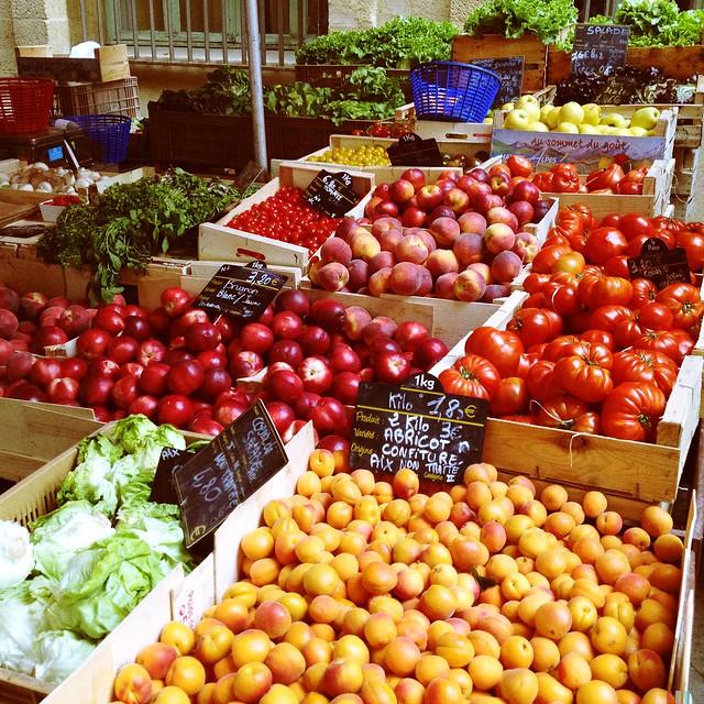 marché provence légumes