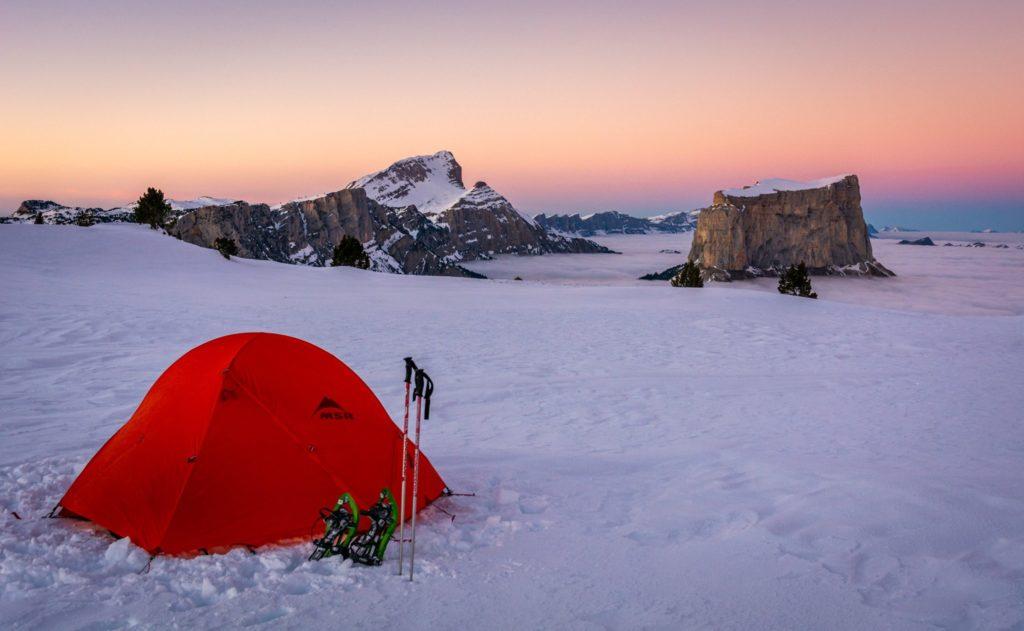 Weekend Week end raquettes et bivouac hivernal sous tente