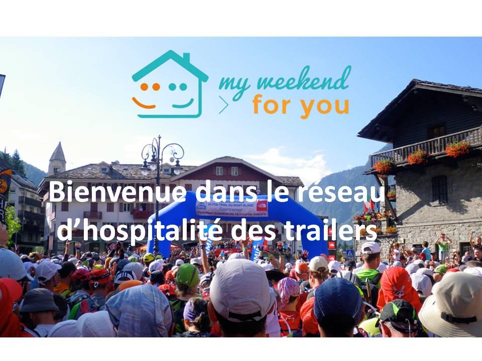 bienvenue dans le réseau d'hospîtalité des trailers My weekend for you evadict